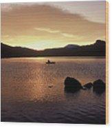 Caples Lake Wood Print