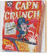 Capn Crunch Wood Print by Russell Pierce