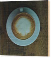 Cappuccino In A Cup Wood Print
