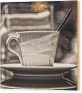Cappuccino In Milan Wood Print