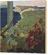 Capri, Italia - Bay Of Naples, Italy - Retro Travel Poster - Vintage Poster Wood Print
