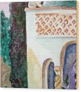 Capri Sphinx Wood Print