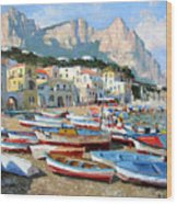 Capri Sunshine Wood Print
