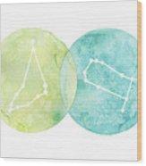 Capricorn And Gemini Wood Print