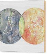 Capricorn Sagittarius Wood Print