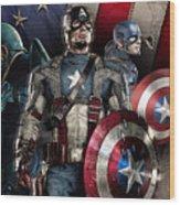 Captain America - America Wood Print