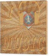 Captain America Lullaby Original Digital Wood Print