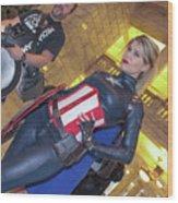 Captain America Wood Print