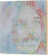 Captain Beefheart - Watercolor Portrait.6 Wood Print