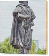 Captain Christopher Newport Wood Print