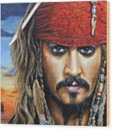 Captain Jack Wood Print by Arie Van der Wijst