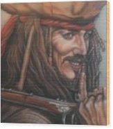 Captain Jack Wood Print
