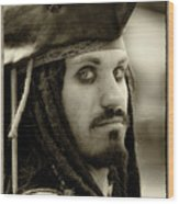 Captain Jack Sparrow Wood Print by David Patterson