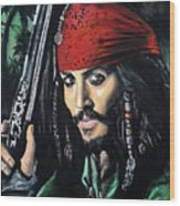 Captain Jack Sparrow Wood Print