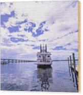 Captain Jp's Paddle Boat Wood Print