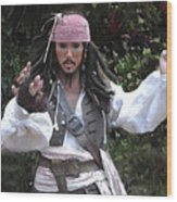 Captain Sparrow Wood Print