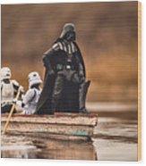Captain Vader Wood Print