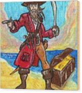 Captain's Treasure Wood Print