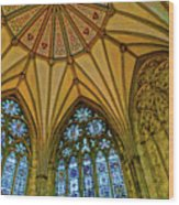 Chapter House Ceiling, York Minister Wood Print