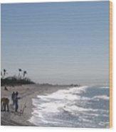 Captiva Surf Fishing Wood Print