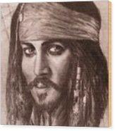 Capt.jack Wood Print by Jack Skinner