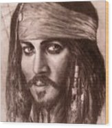 Capt.jack Wood Print