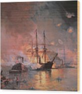 Capture Of New Orleans By Union Flag Officer David G Farragut Wood Print