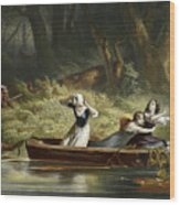 Capture Of The Daughters Of Daniel Boone And Richard Callaway By The Indians Wood Print