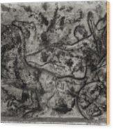 Captured Chariot Wood Print