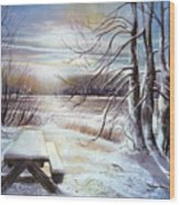 Capturing The Snow Wood Print