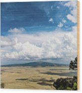 Capulin Volcano View New Mexico Wood Print
