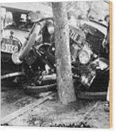 Car Accident, C1919 Wood Print