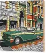 Car Club 1960s Wood Print
