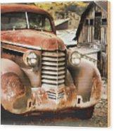 Car Full Of Memories, Ghost Town, Jerome, Arizona Wood Print