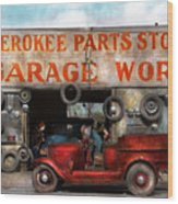 Car - Garage - Cherokee Parts Store - 1936 Wood Print
