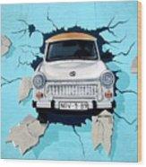 Car Graffiti Wood Print