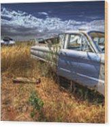 Car Graveyard Wood Print
