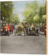 Car - Race - Hold On To Your Hats 1915 Wood Print