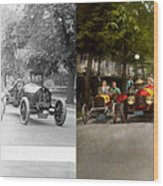 Car - Race - Hold On To Your Hats 1915 - Side By Side Wood Print