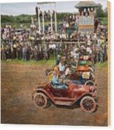 Car - Race - On The Edge Of Their Seats 1915 Wood Print
