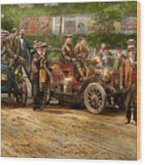 Car - Race - The End Of A Long Journey 1906 Wood Print
