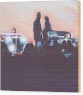 Car Rally At Sunset Wood Print