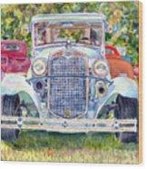 Car Show Wood Print