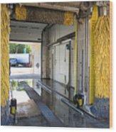 Car Wash Interior Wood Print