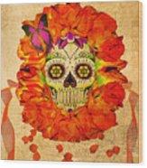 Cara De La Flor Wood Print