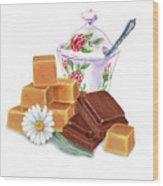Caramel Chocolate Wood Print