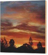 Caramel Sunset Wood Print