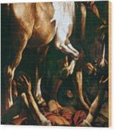 Caravaggio: St. Paul Wood Print by Granger
