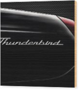 Carbon Black Thunder Wood Print