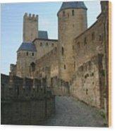 Carcassonne Castle Wood Print
